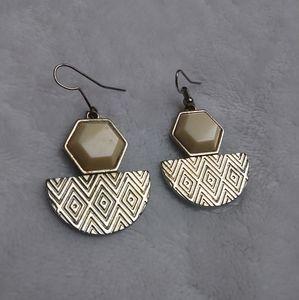 Women's Tribal/Aztec Printed Earrings